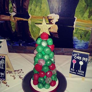 Christmas Wedding Cake Pop Tree - Cake by Tiffany DuMoulin