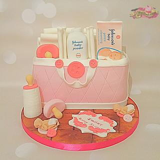Another baby bag cake