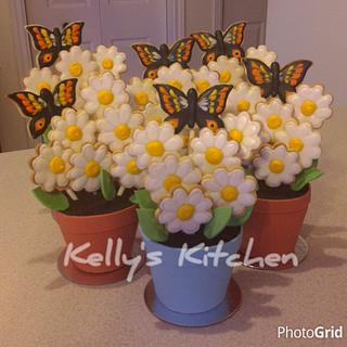 Mother's Day cookie flower pots