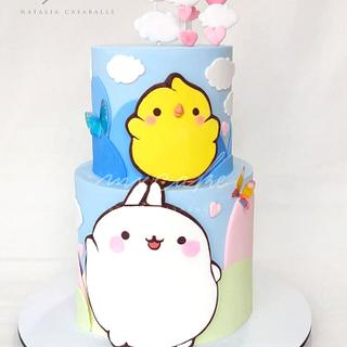 Molang and Piu Piu Cake