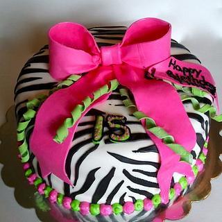 Zebra Print Cake - Cake by Mimi's Sweet Shoppe Amanda Burgess