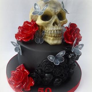 Haloween themed birthday cake