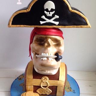 Pirate Skull Cake - Cake by Patty Cakes Bakes