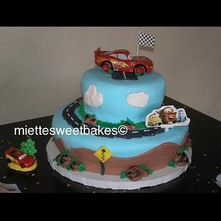 Cars themed Birthday cake