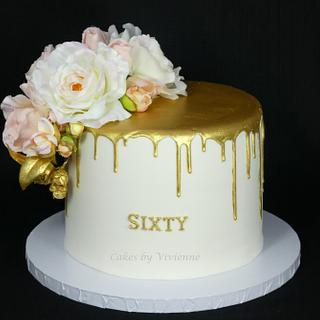 Gold Drip Cake - Cake by Cakes by Vivienne