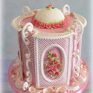 Rose Garden royal icing - Cake by  Justyna A-Majewska   JAM