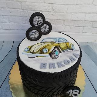 Retro car - Cake by Oli Ivanova