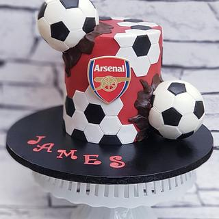 A football/soccer themed cake