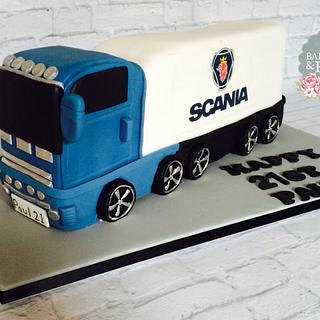 Articulated Lorry Cake