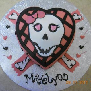 Girly Scull cake