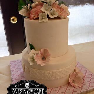 Antique Flower Bouquet & Cake