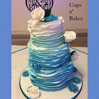 My Boozy Trio Wedding Cake