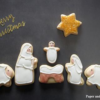 Nativity Scene  - Cake by Dina - Paper and Sugar