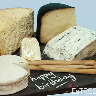 Cheese birthday cake :D