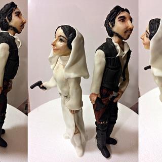 Wedding cake with realistic figures