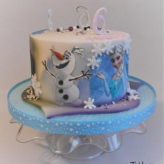 Birthday cake for three children