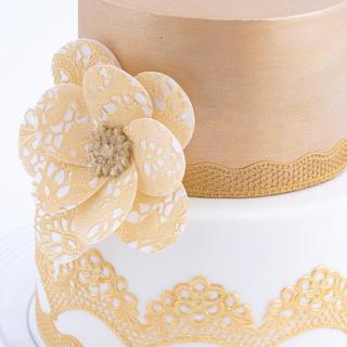 Gold Lace Cake