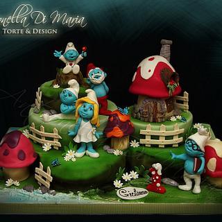 The Smurfs' Village - Cake by Antonella Di Maria