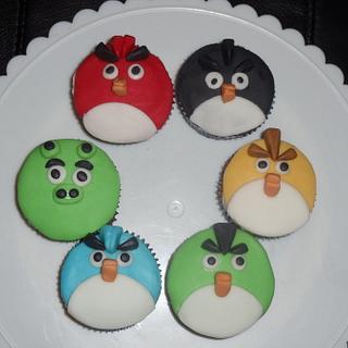 Angry Bird Cupcakes - Cake by Tamara Bemiss