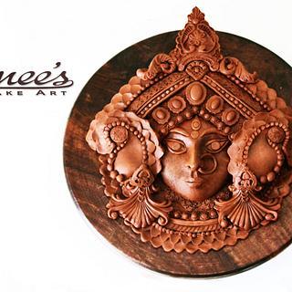 MAA DURGA -Modelling Chocolate - Cake by Purbaja B Chakraborty