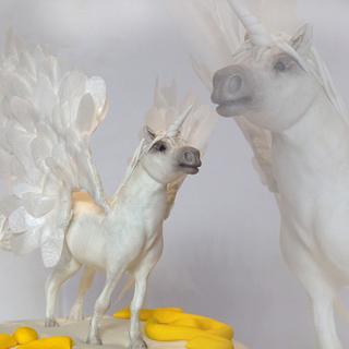 Fondant Unicorn - Cake by yael