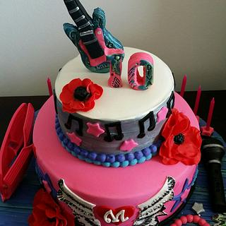 Rockstar /pop star cake