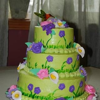 Hummingbird deco for my grandmother - Cake by Dawn Henderson