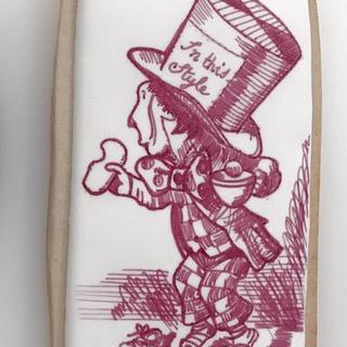 Lewis Carroll - Alice in wonderland mad hatter - Cake by Ponona Cakes - Elena Ballesteros