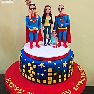 Superdads!  - Cake by Bumblebee Bakes Goa