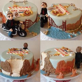 Tickety Boo Storyboard Cake - American Road Trip