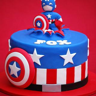Captain America Cake and Cookies