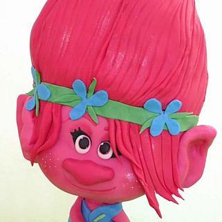 3D Poppy Trolls Cake - Cake by GeoYa's cakes