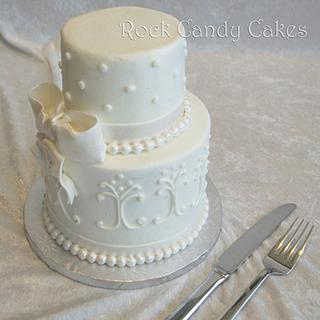 Mini Wedding Cake for Engagement Party