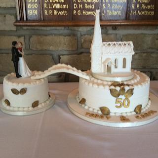 50 yr old Wedding cake recreated!!