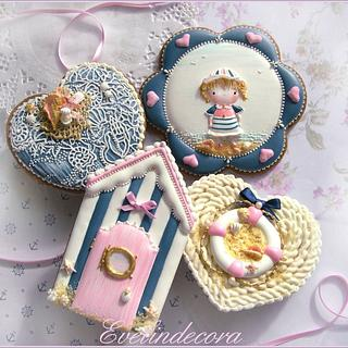 Sailor girl cookies