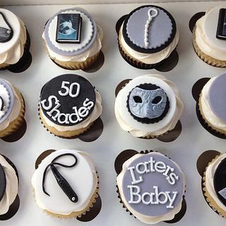 50 Shades of Grey Cupcakes