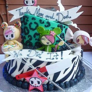 My Tokidoki Graduation Cake - Cake by Angie Huerta