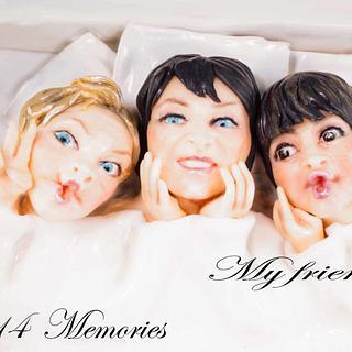 Best friends cake collaboration : Friends memories