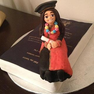 Ph.D Graduate and Thesis Cake Topper