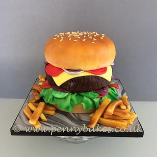 Mega burger cake!!