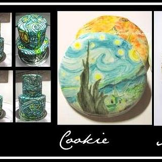 Van Gogh Inspired Cake, Cookie, and Macaron