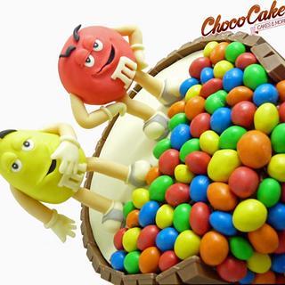 Cake M&M's-Kit Kat - Cake by ChocoCake