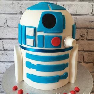 R2D2 Rainbow Cake - Cake by Leigh Medway