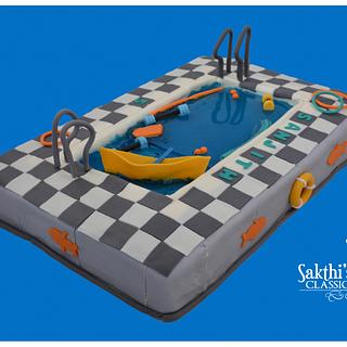 Pool cake - Cake by Classic Cakes by Sakthi