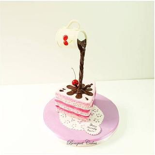 Gravity cake - Cake by Ghada _ Bouquet cakes