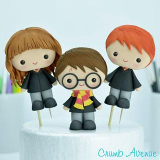 Harry Potter, Ron and Hermiona Cake Toppers - Cake by Crumb Avenue