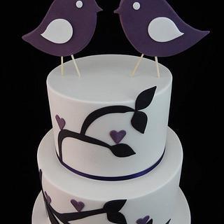 Birdie Wedding Cake - Cake by Eleanor Heaphy