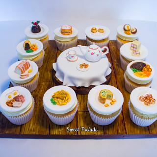 British food miniature cupcakes