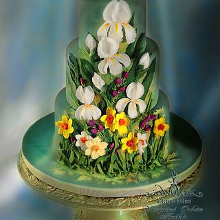 Royal icing Irises