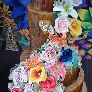 Wedding Clarisse & José - Cake by Ivan